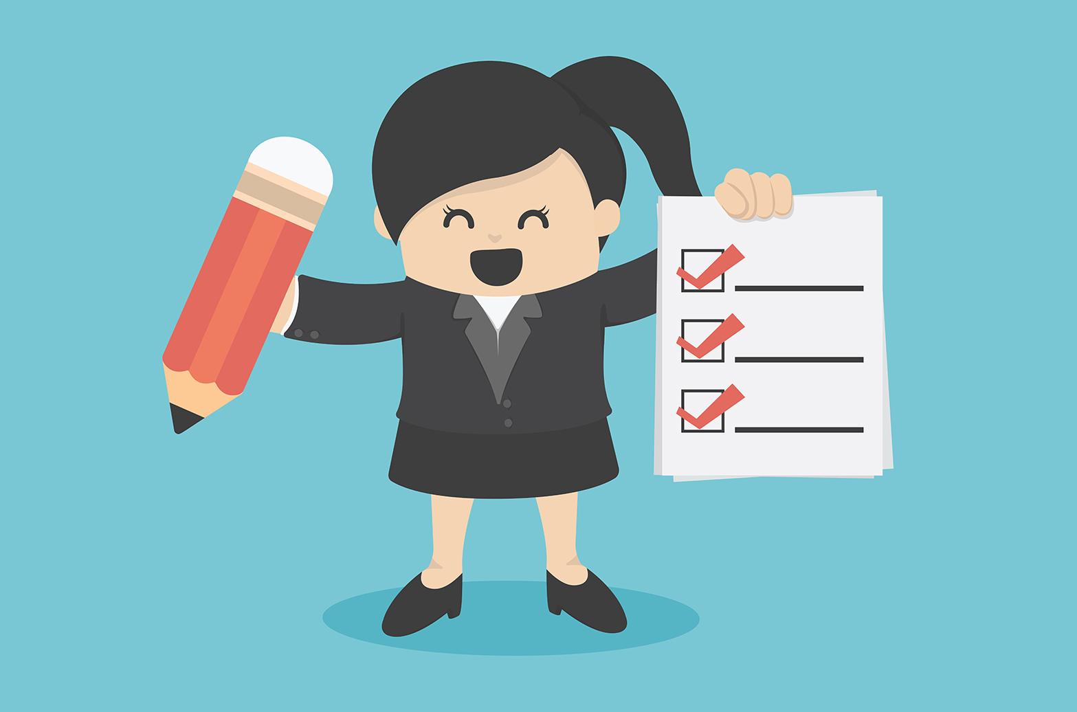 business woman Checklist