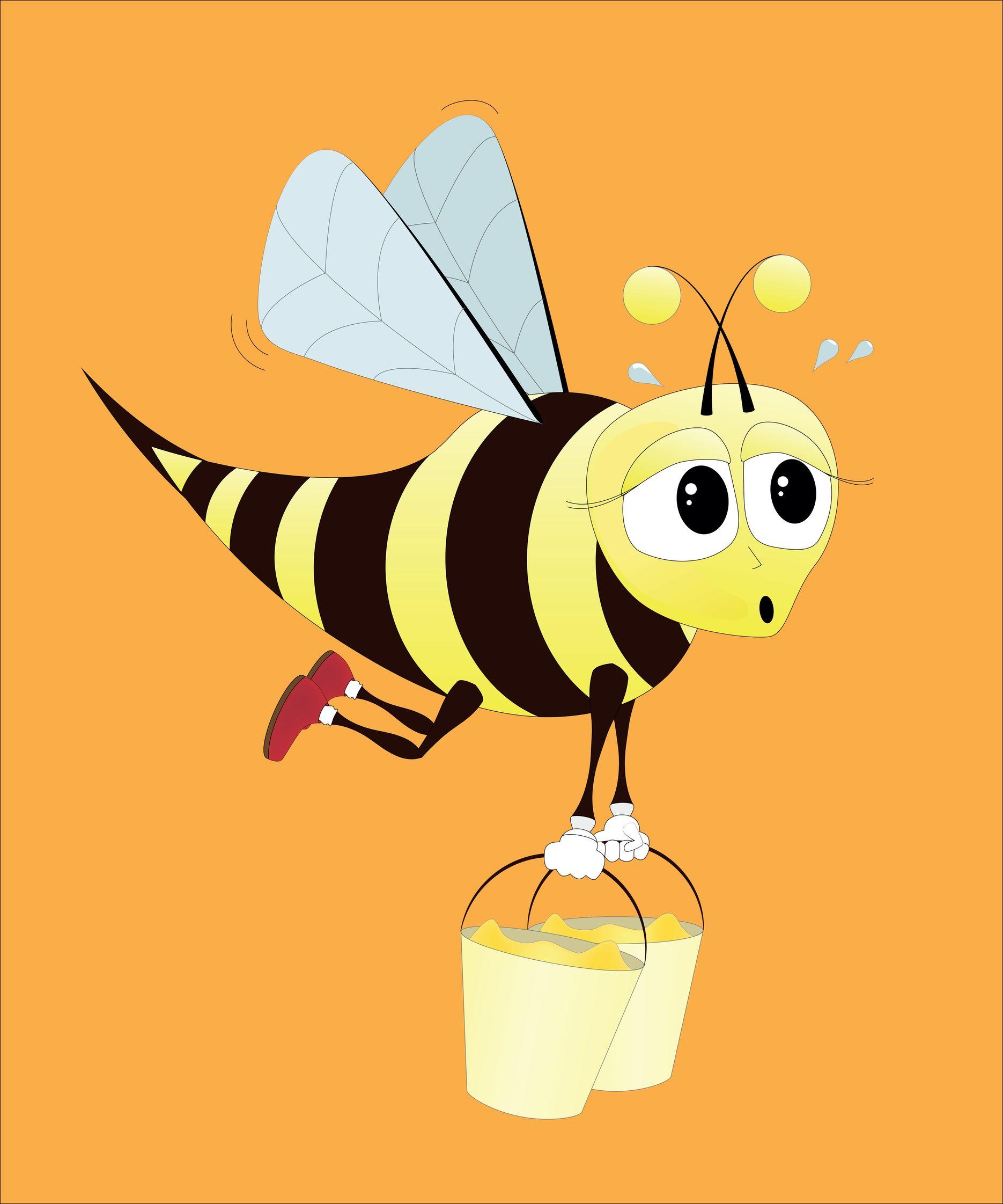 9718087 – hard working bee