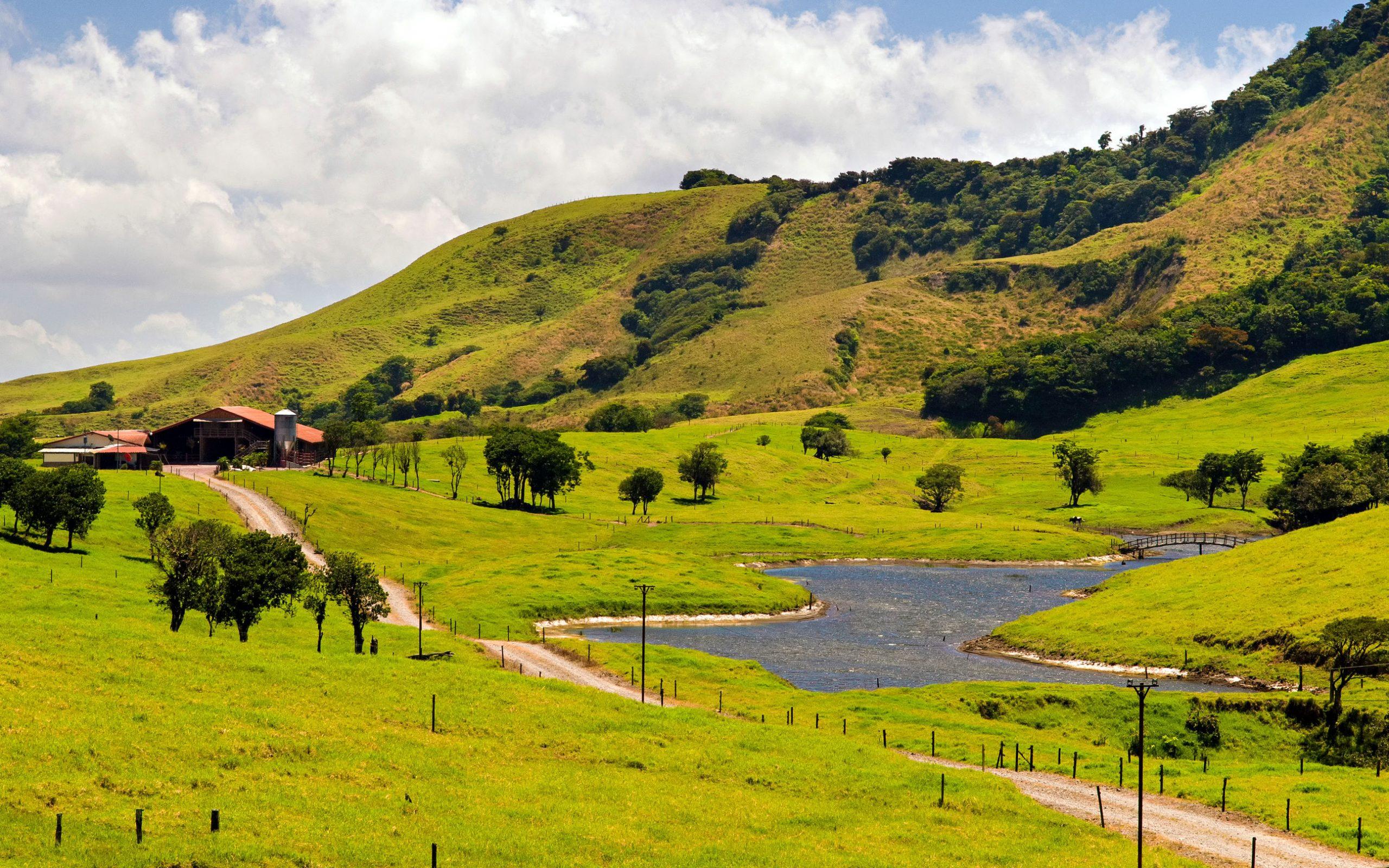 Cultural landscape in Costa Rica