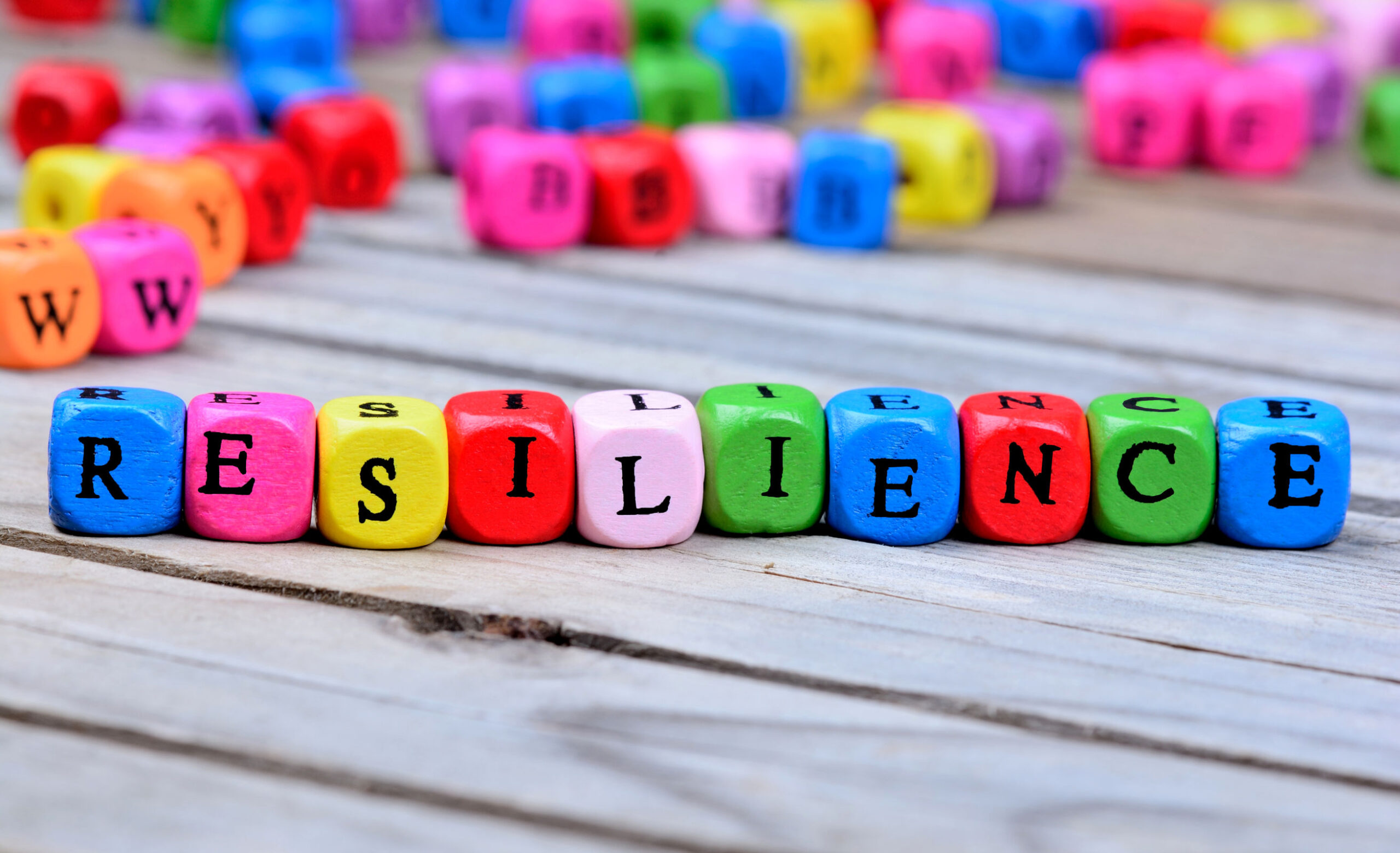 Resilience word on table