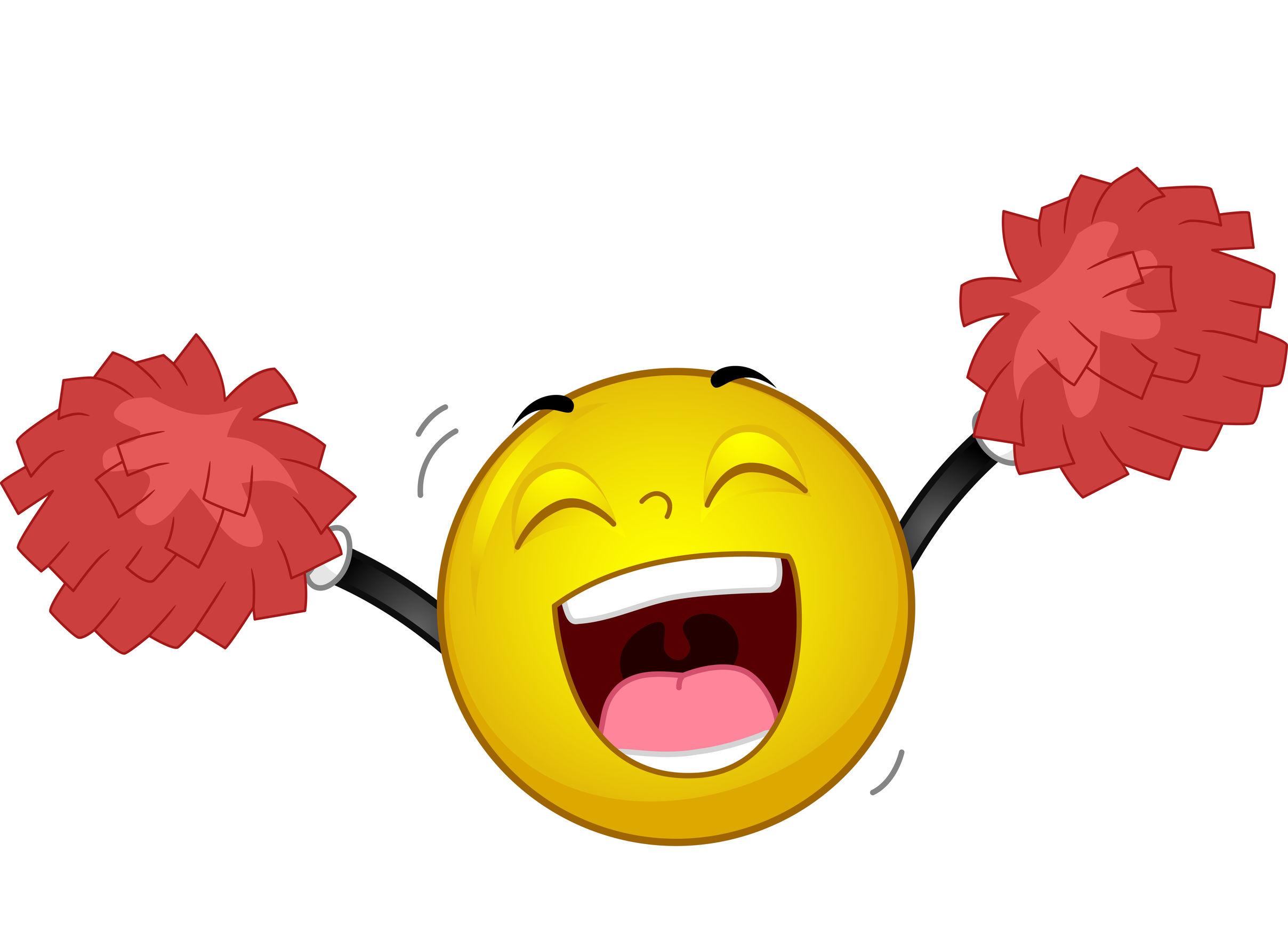 Happy Smiley Cheer Pompoms